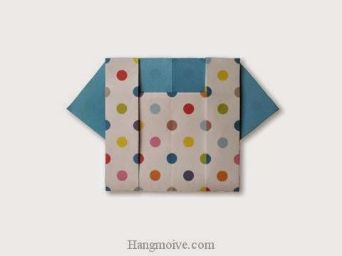 Cách gấp, xếp áo cộc tay bằng giấy origami - Video hướng dẫn xếp hình quần áo - How to fold a blouse