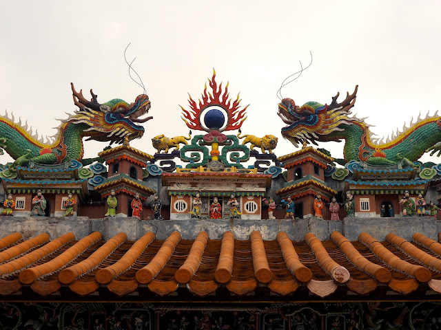 Dragons on the roof of Pak Tai Temple, Cheung Chau Island, Hong Kong