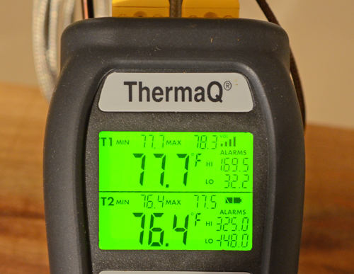 ThermaQ review, ThermaQ back light