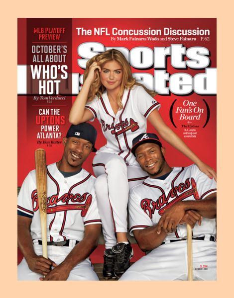 Kate Upton covers Sports Illustrated's Baseball Pplayoff Preview Issue