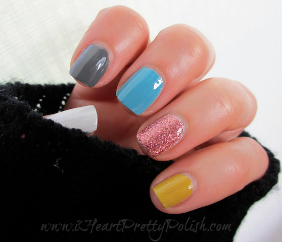 Julep Alma, Zoya Rocky, Julep Kate, Pure Ice Kiss Me Here, Butter London Rosie Lee