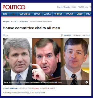 House committee chairs all men