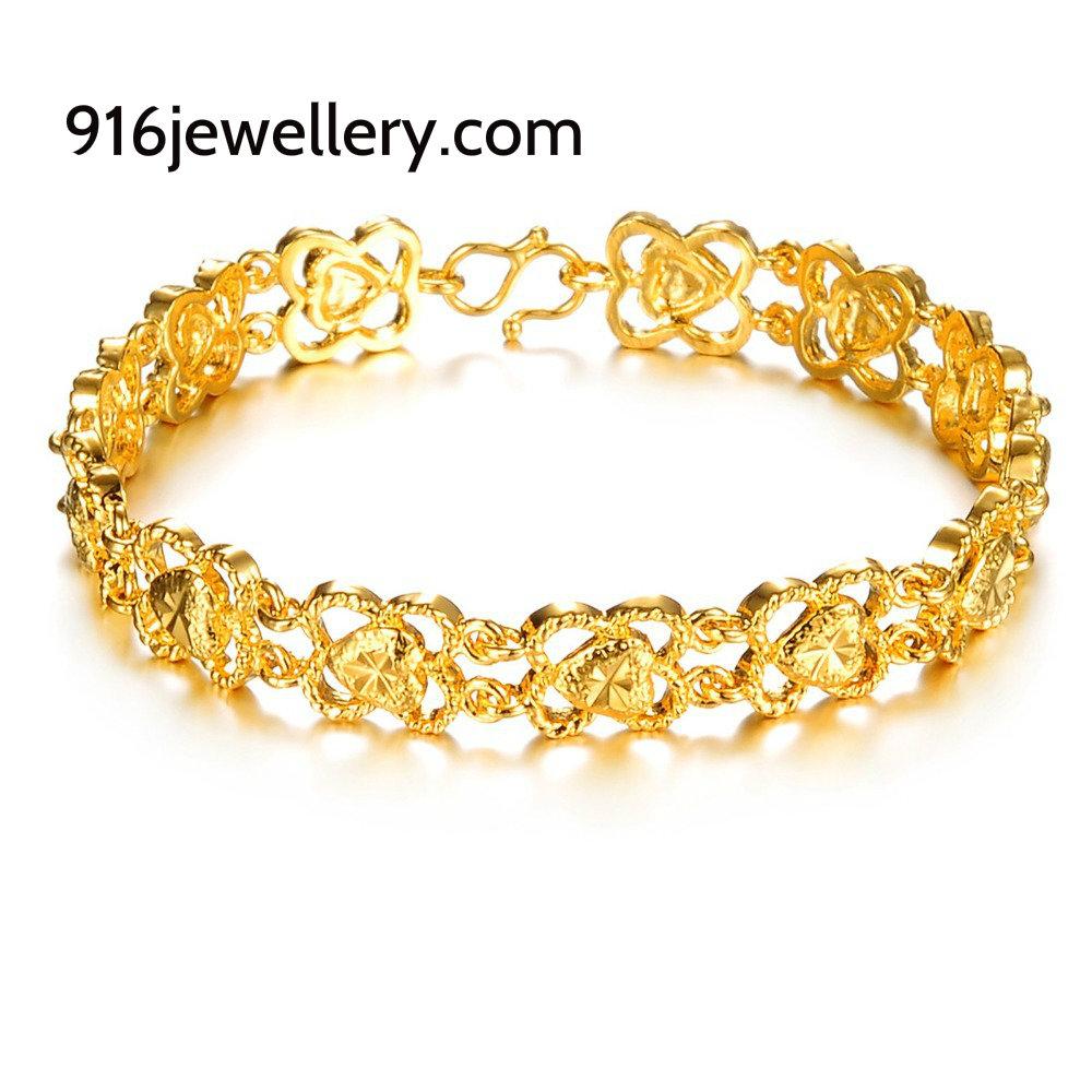 bracelates 916 jewellery gold bracelets for women designs