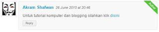 Cara Mudah Menghilangkan Link Aktif Pada Komentar Blogger
