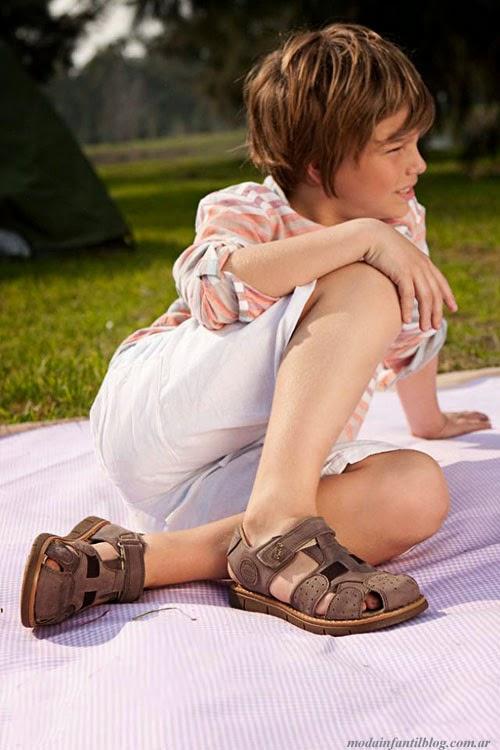 moda en sandalias para niños verano 2014