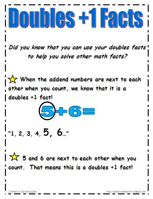 LaSotau0026#39;s Little Learners: Doubles Plus 1 Facts