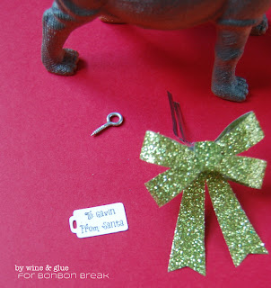 I Want a Hippopotamus Christmas Ornament by Lisa Longley of Wine & Glue I want a hippopopatamus for christmas