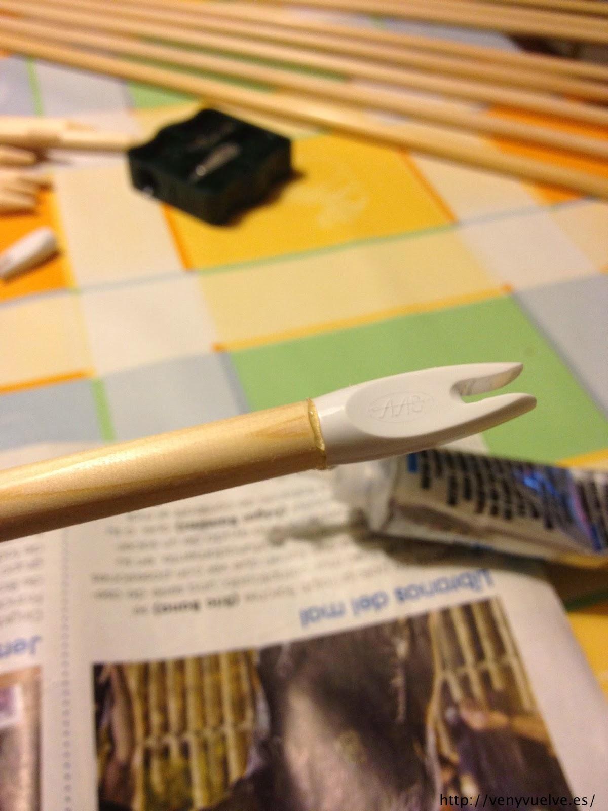 Pegando el culatín con flechtite
