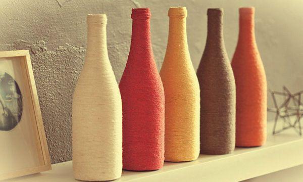 Resultado de imagem para garrafas de vinho decoradas