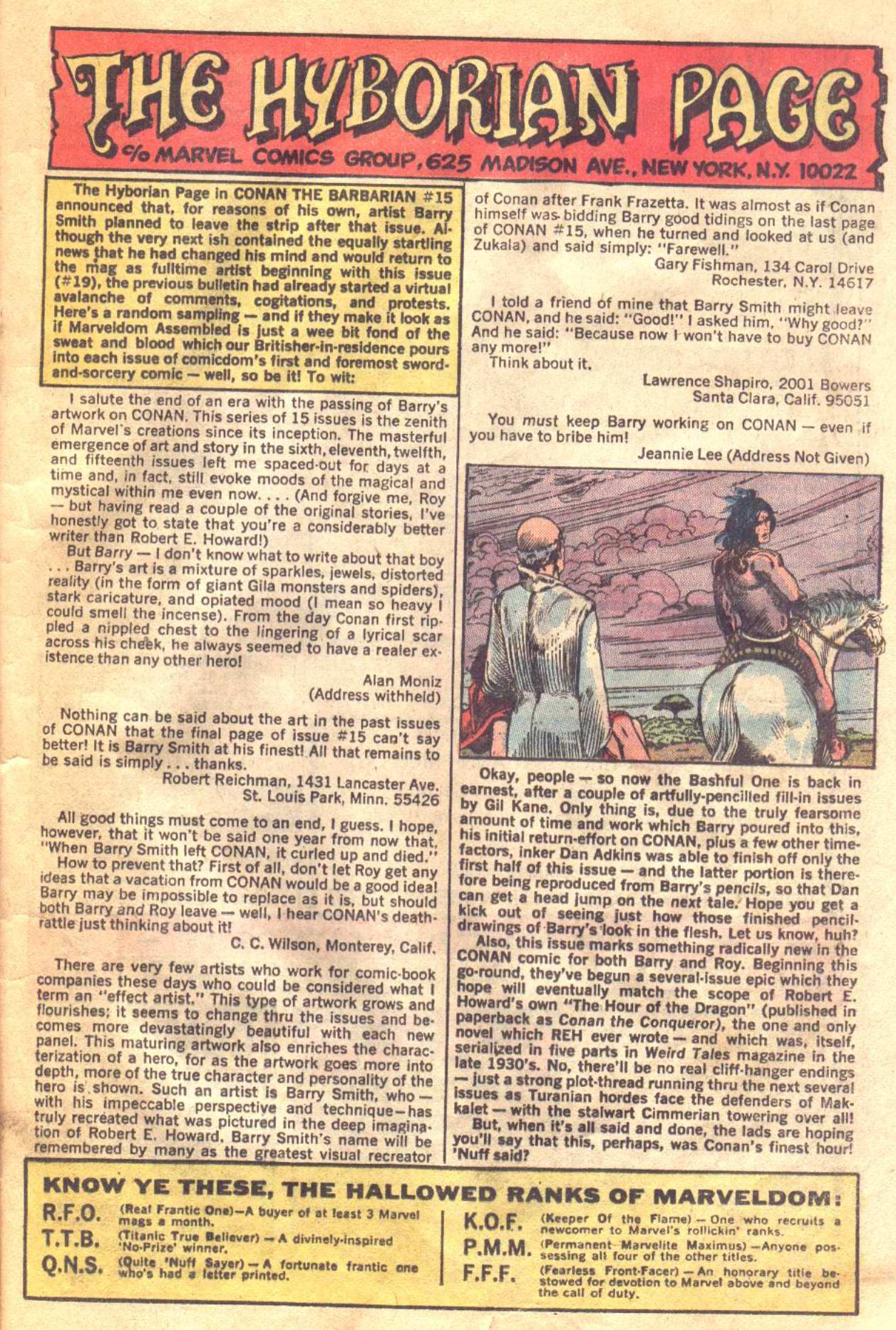 Conan the Barbarian (1970) Issue #19 #31 - English 18