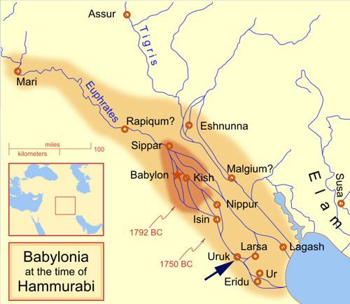 Mesopotamia. Cone mosaics were found in Ur, Uruk,