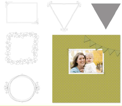Freehand Frames Overlays Stamp Brush Set - Digital Download  - http://jennsavstamps.stampinup.net