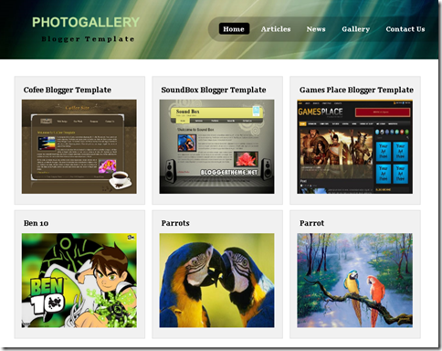 Photo Gallery Template |Blogger Templates 2013