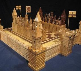 scottish war cool chess set