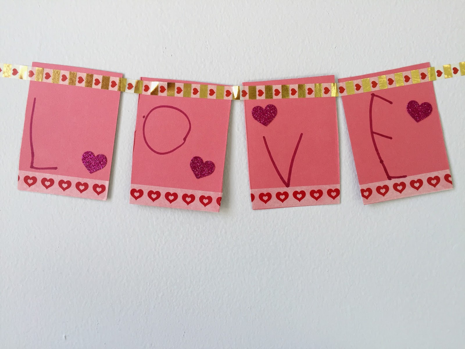... To Spell Their Valentine Word And Place A Long Piece Of Washi Tape  Across The Top. Now They Can Hang It On The Wall And Start Decorating For  Valentineu0027s ...