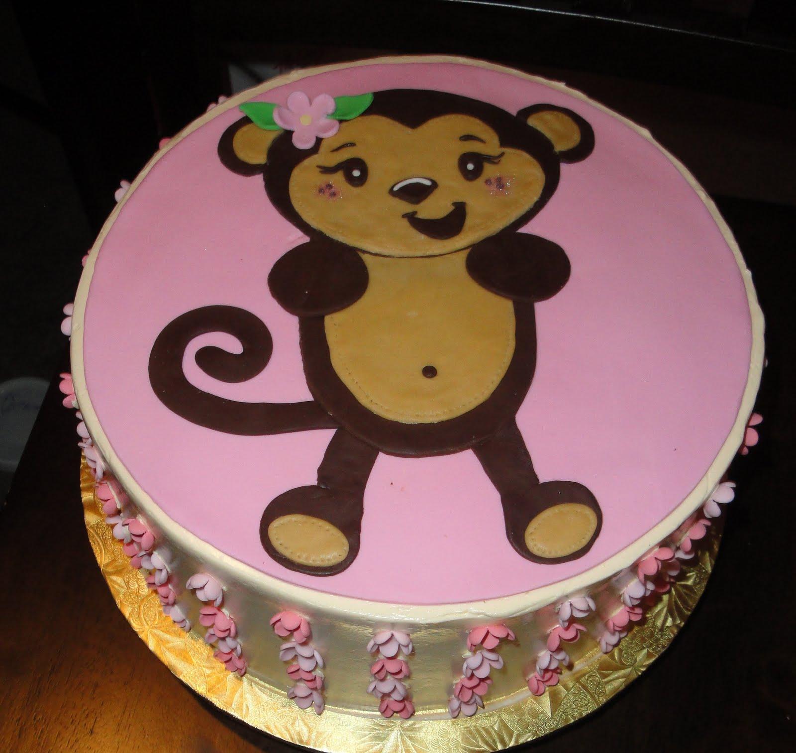 Amy Cakes: Monkey 1st Birthday Cake
