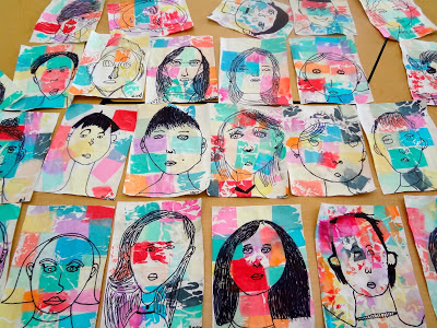 Self portrait face proportions lesson for kids