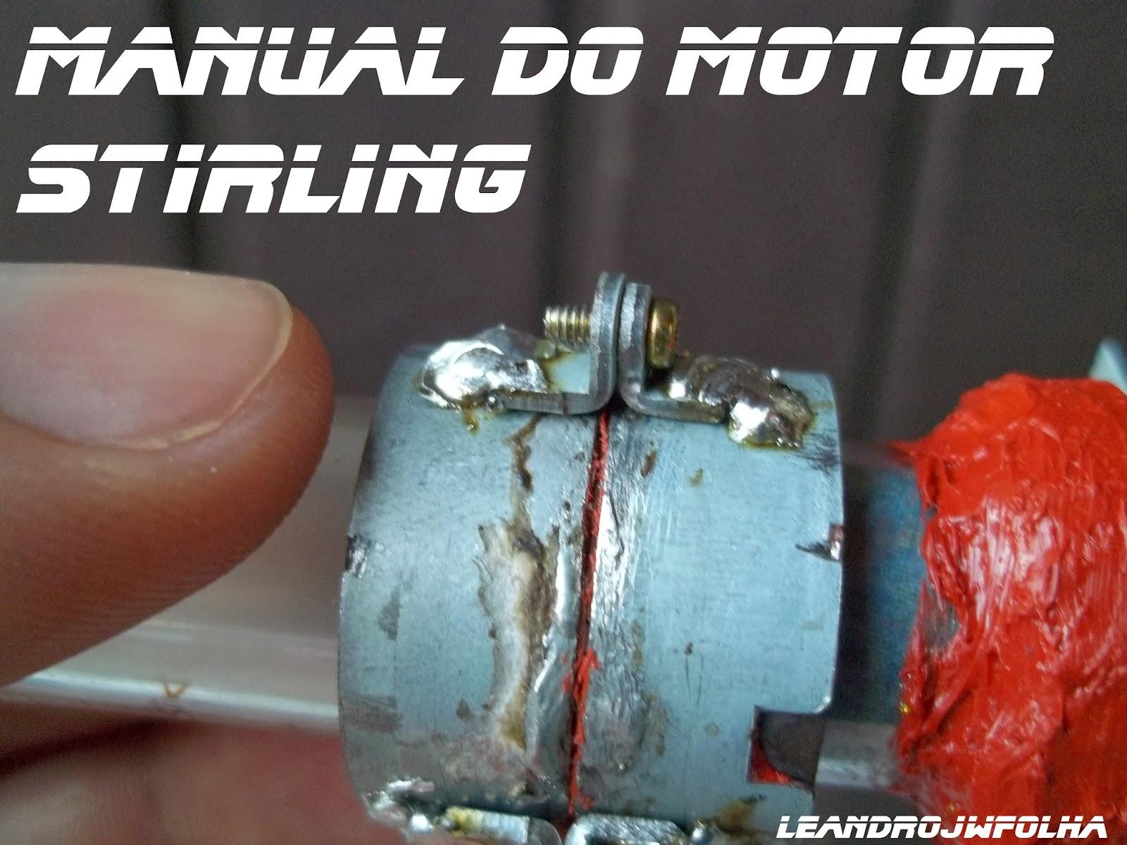 Manual do motor Stirling, união removível do tubo de ensaio com a seringa de vidro