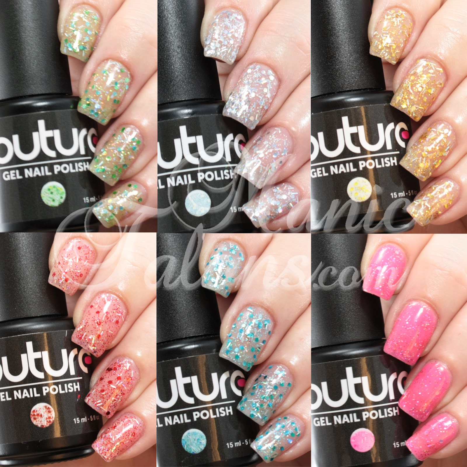 Couture Soak Off Gel Nail Polish - All That Glitters Collection Swatches