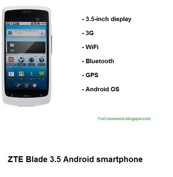 zte blade 3 5 android smartphone zte blade review also known as orange