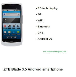 ZTE Blade 3.5 Android smartphone