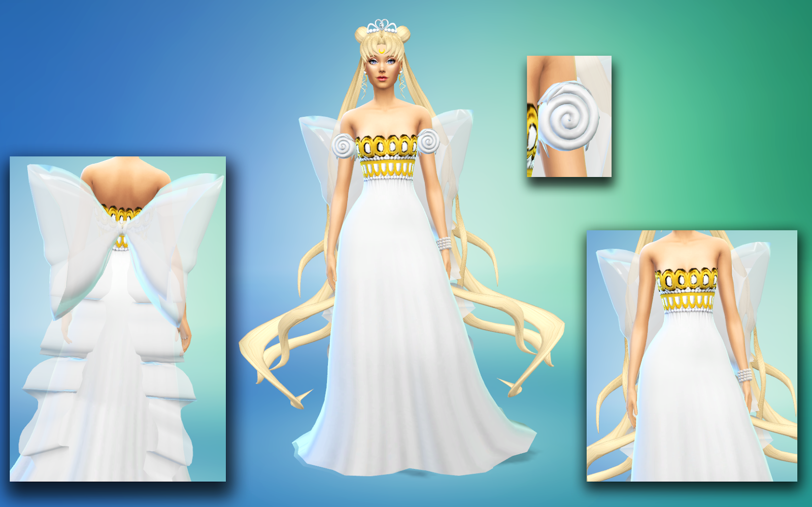 Neo Queen Serenity Set And Princess By SilverMoon Sims