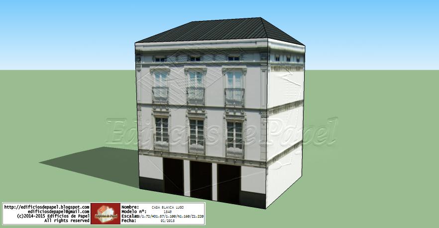 Maqueta de Papel 1549 - White Hose in Lugo