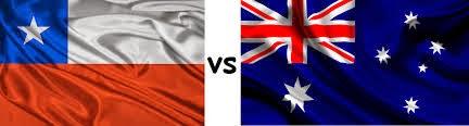 photo : Chile vs Australia Flags