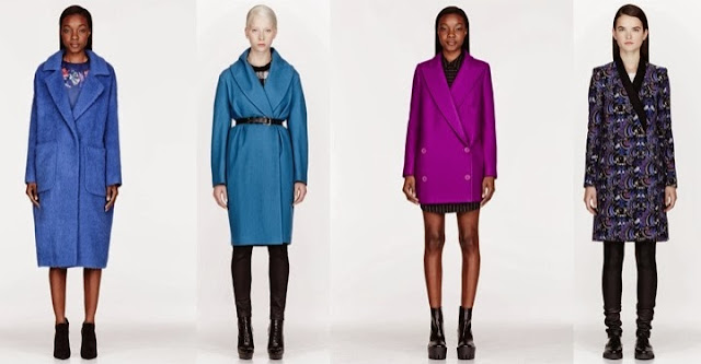 4 colorful winter coats including MGSM Kenzo and DSquared