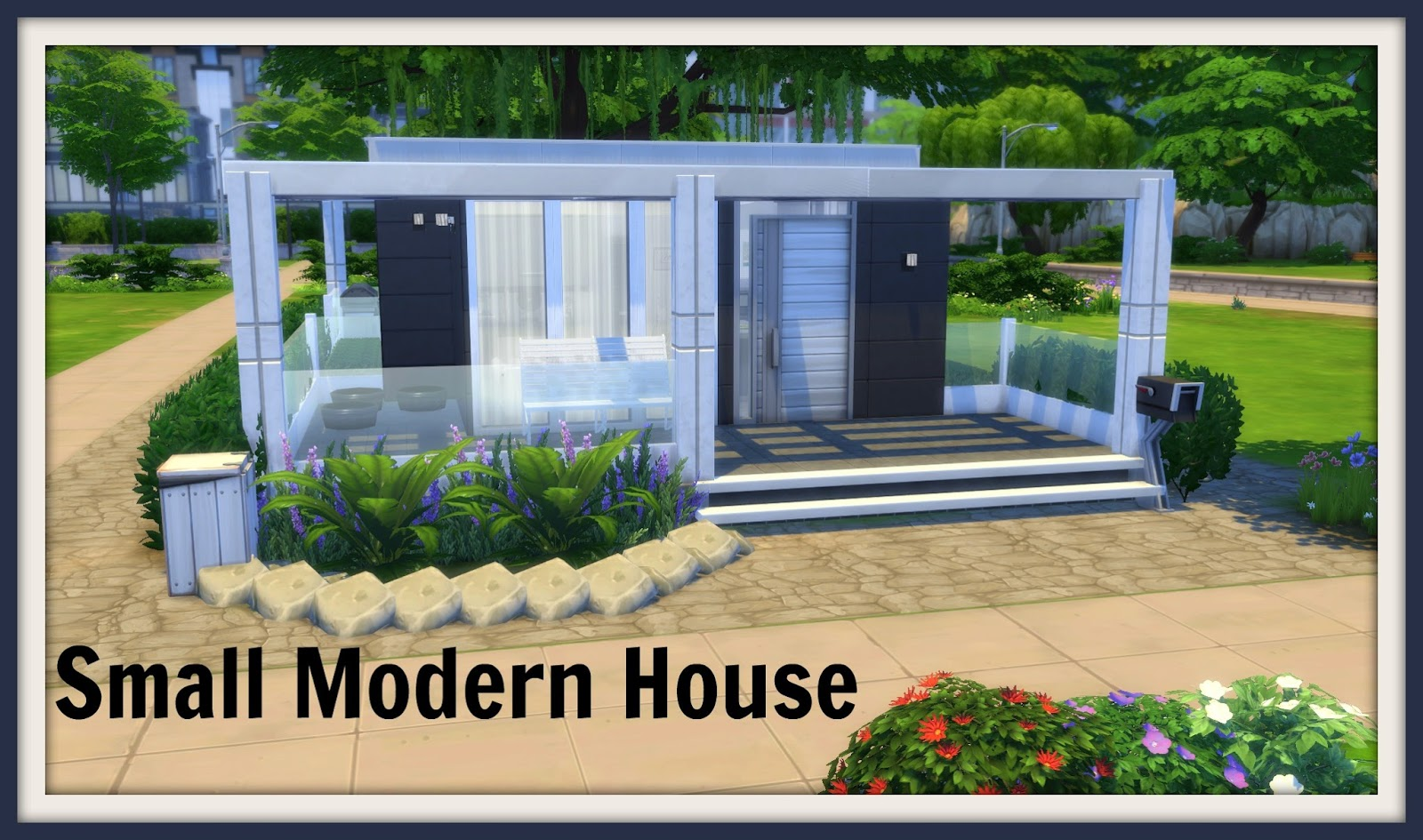 Sims 4 small modern house dinha for Tiny modern apartment