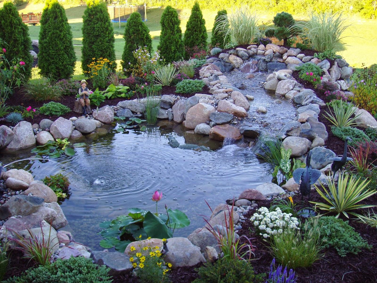 29 outstanding landscaping ideas for backyard creeks. Black Bedroom Furniture Sets. Home Design Ideas