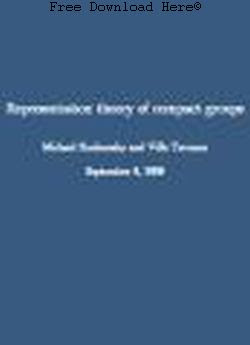 Free Download Representation Theory of Compact Groups Book: