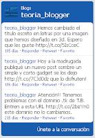 Widget de Twitter en blog