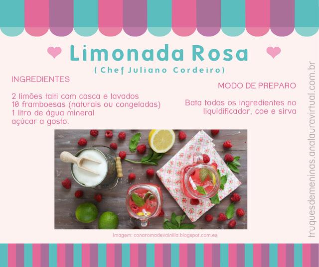 Limonada Rosa framboesa
