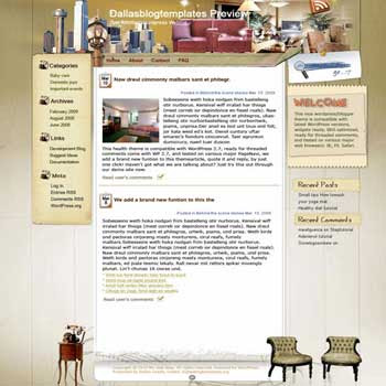 Stay Safe and Sound blogger template. converted WordPress to Blogger template. template for hotel blog