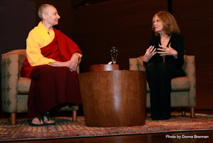 Jetsunma Tenzin Palmo and Gloria Steinem at the Rubin Museum