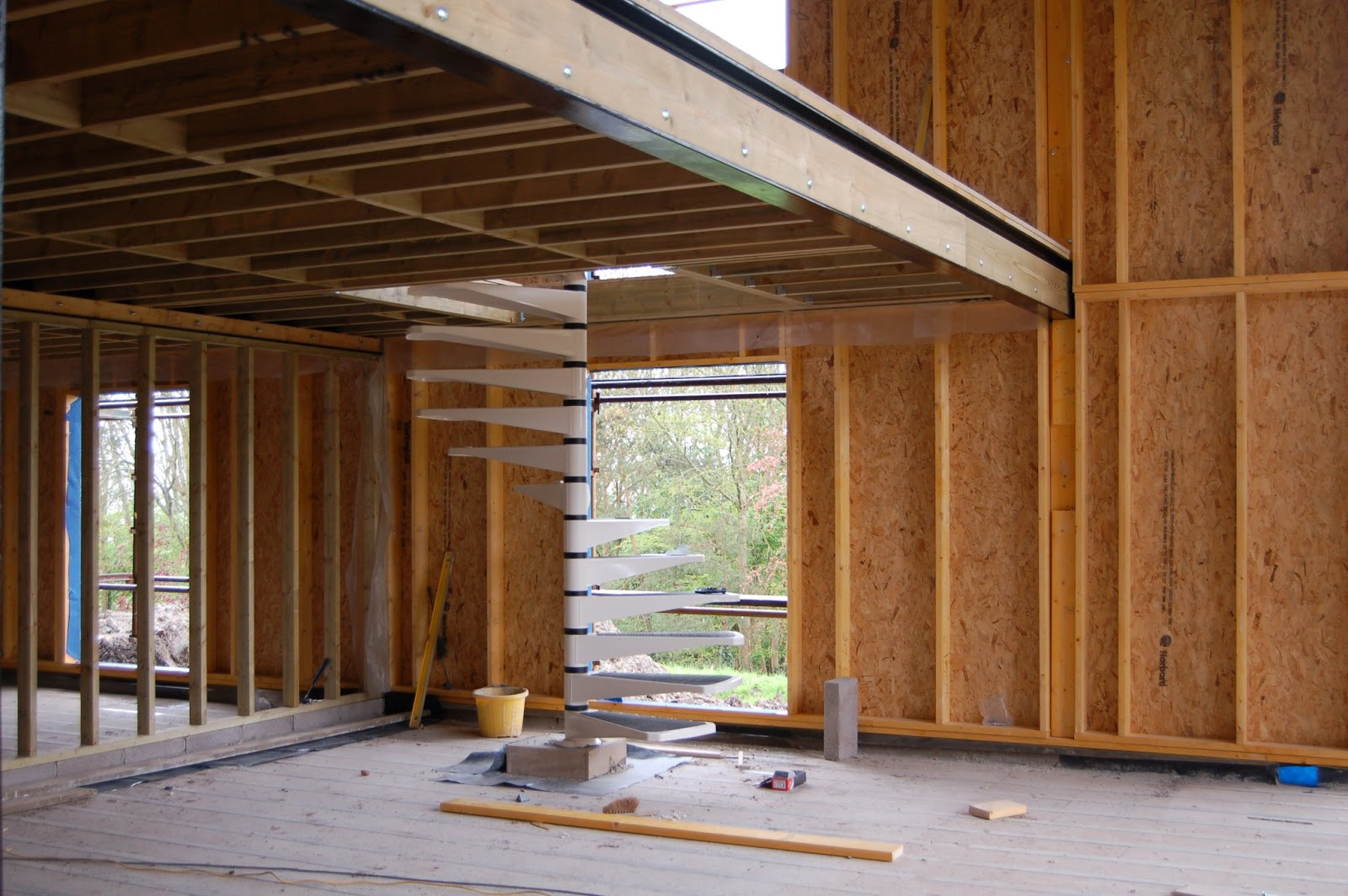 Woodhayes: Internal Studwork installation.