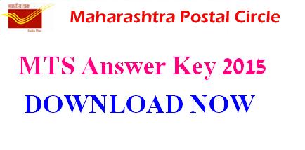 Maharashtra DOPMAH MTS Answer Key 2015