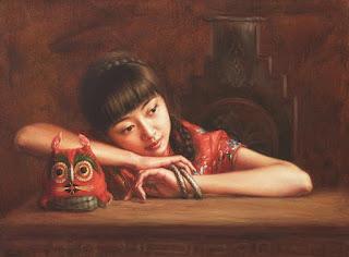 Tradicion China Mujeres lindas en Retratos