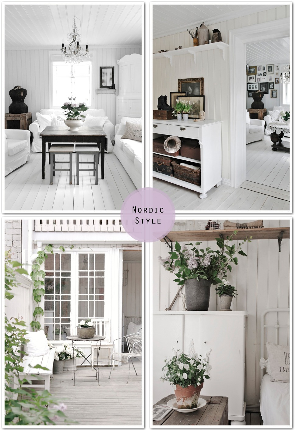 Stile nordico   shabby chic interiors