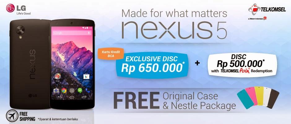 Promo LG Nexus 5 Disc Up To Rp 650,000