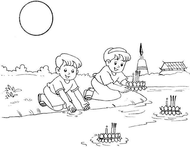 loy krathong coloring pages - photo#1