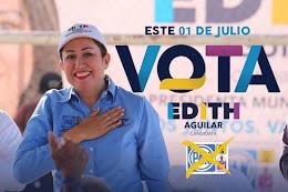 Edith Aguilar, Candidata a la presidencia municipal de Mulegé de la coalición PAN,PRD, PRS,