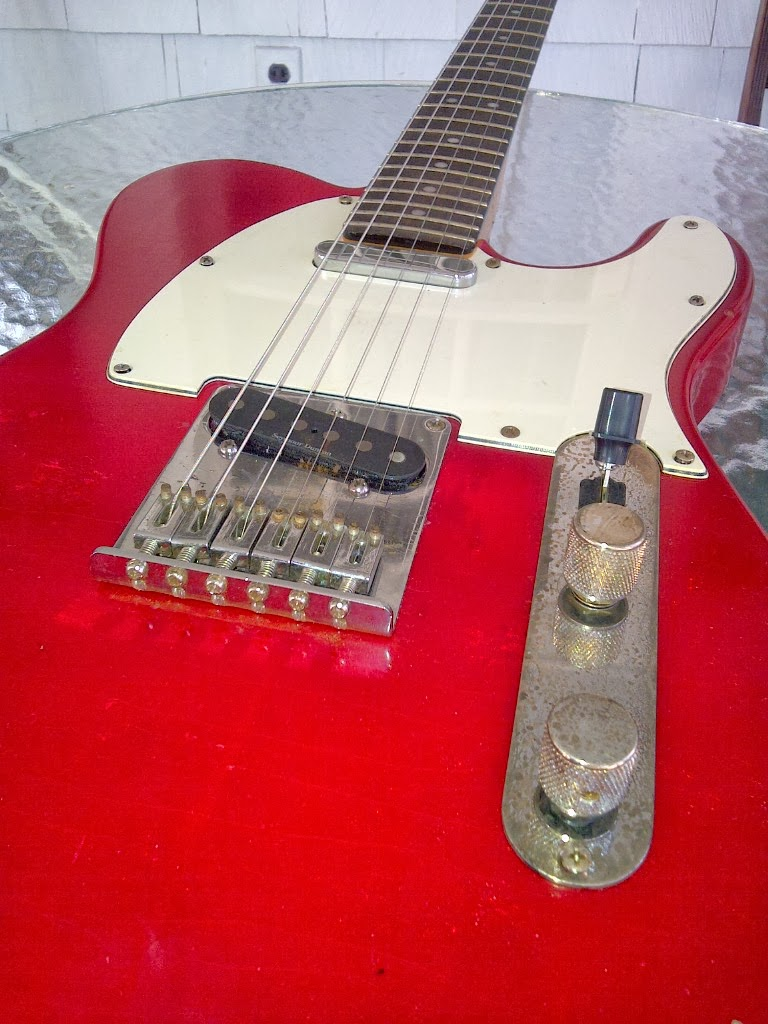 Jw Guitarworks Telecaster Project Andy Summers Wiring Diagram Pickups Twisted Tele Neck Seymore Duncan Aplt 1 Bridge Controls 4 Way Switch With Tone Volume Including Greasebucket Circuit