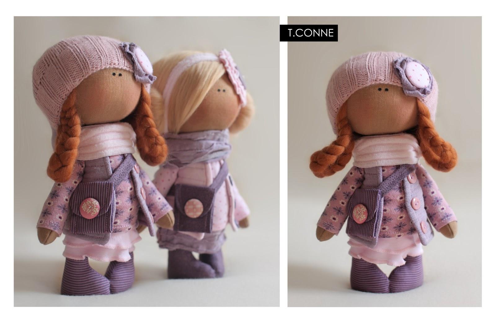 Куклы своими руками из ткани снежки