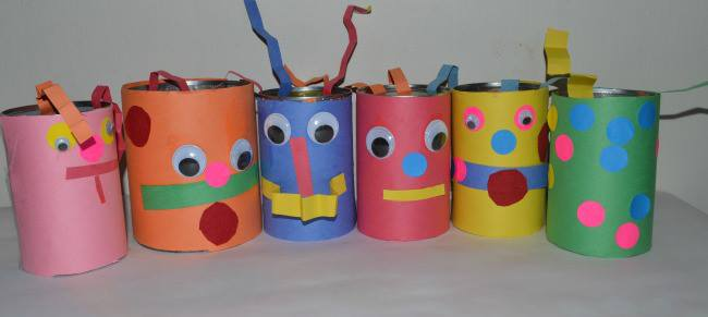 Up Cycle Kids Craft Crazy Art Cannies