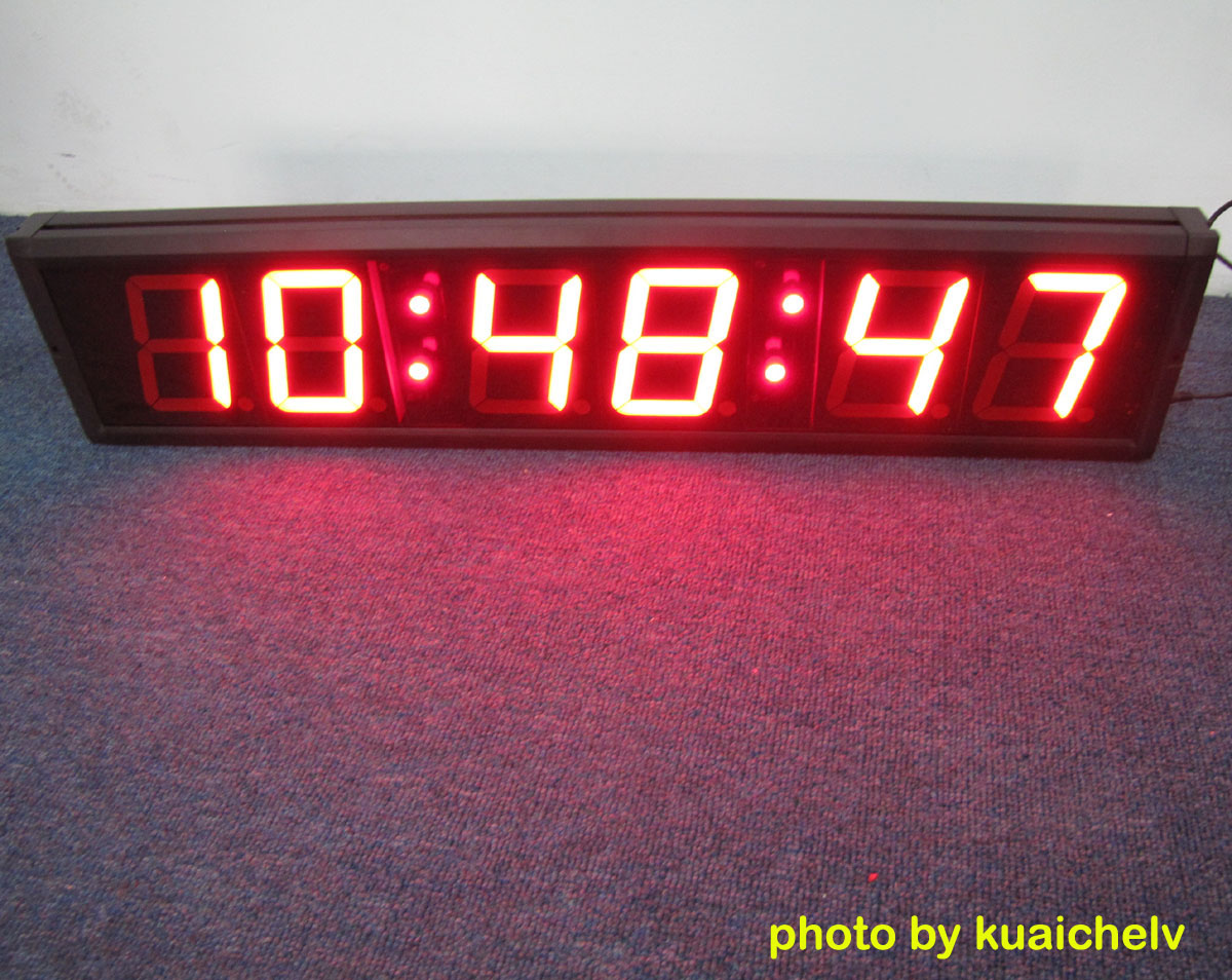 Large led countdown timer Digital led wall clock