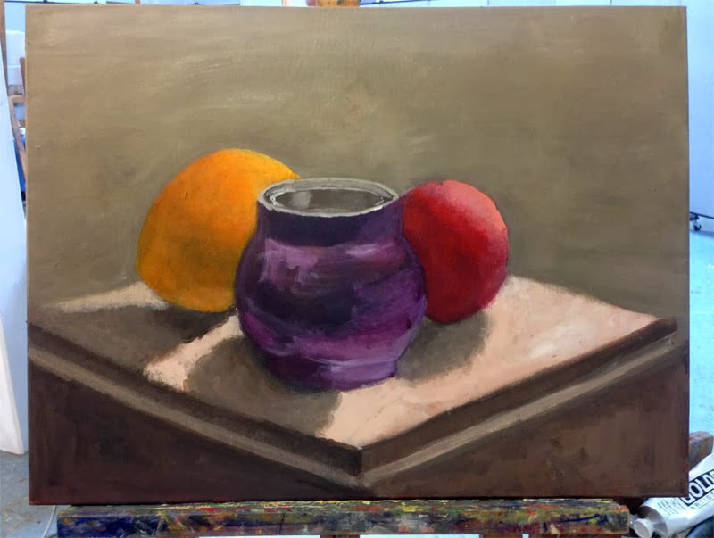 My acrylic still life, session 3