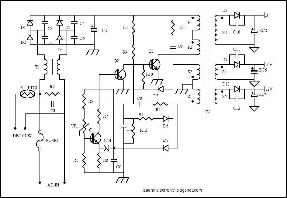 Protectors Circuit on SMPS power supply Subwoofer Bass Amplifier