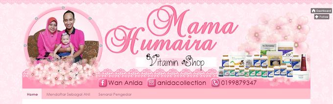Tempahan Design Blog Mama Humaira Vitamin Shop